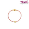 [Online Exclusive] So Much In Love Charm | Colors of Memories | Tomei Yellow Gold 916 (22K) with Complimentary Peach Pink Bracelet (TM-YG0653P-EC)