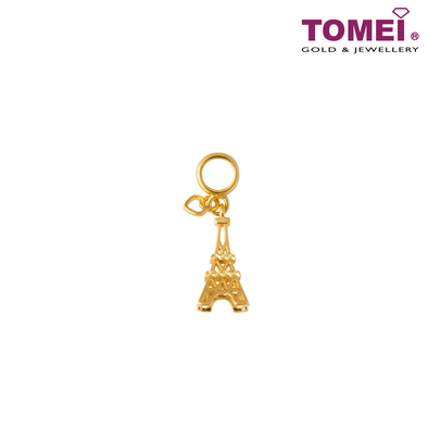 Paris Eiffel Tower Charm | Tomei Yellow Gold 916 (22K) (TM-YG0733P-1C)