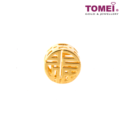 Completely Wonderful Fu Charm | Tomei Yellow Gold 916 (22K) with Complimentary Navy Blue Bracelet (TM-YG0724P-1C)
