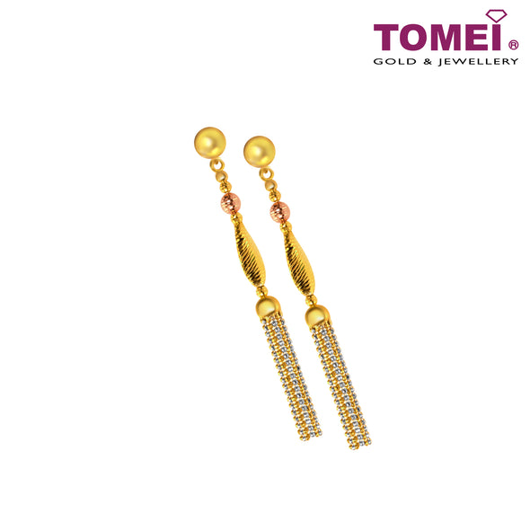 Drop Earrings | Tomei 916 (22K) Yellow Gold (IQ-FA884-OR/B-3C)