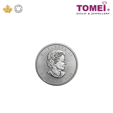 [Online Exclusive][Limited Stock] Tomei x Royal Canadian Mint 2020 Maple Leaf Coin 1OZ | Tomei 9999 Fine Silver (SML-1OZ-CA-20)