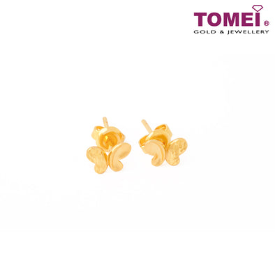 Lovingly Sweet Butterfly Earrings | Tomei Yellow Gold 916 (22K) (9Q-YG1072E-1C)