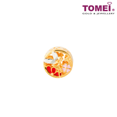 [Online Exclusive]Magic Fairy & Lucky Clover Charm | Tomei Yellow Gold 916 (22K) (TM-YG0760P-EC)