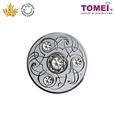 "Tomei x Royal Canadian Mint Silver 9999 ""2020 April Birthstone with Swarovski® Crystals"" Numismatic Coin (164230)"