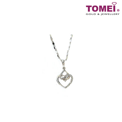 [Online Exclusive][Only Piece] Timeless Sparkle Diamond Necklace | Tomei White Gold 375 (9K) & White Gold 585 (14K) (P5384)