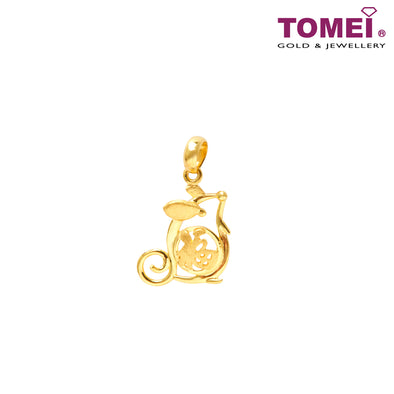 Fu The Fortune Pendant | Tomei Yellow Gold 916 (22K) (PP3035-1C)