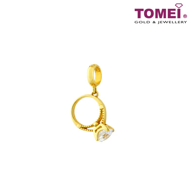 [Online Exclusive] Tribute to Remarkable Women Diamond Ring Chomel Charm | Tomei Yellow Gold 916 (22K) with Complimentary Bracelet (TM-YG0425P-1C)