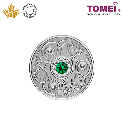 "Tomei x Royal Canadian Mint Silver 9999 ""2020 May Birthstone with Swarovski® Crystals"" Numismatic Coin (164341)"