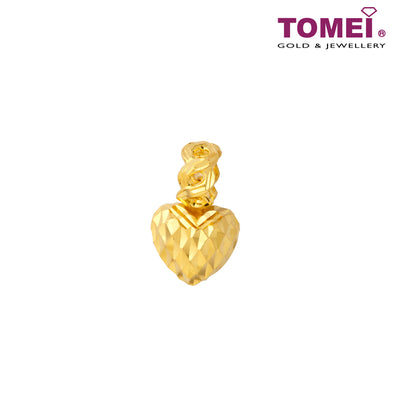 [Online Exclusive] Heart Aflutter Chomel Charm | Tomei Yellow Gold 916 (22K) with Complimentary Bracelet (TM-PV402-1C)