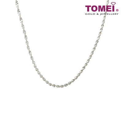 [Online Exclusive] Frosty Faith Water Wave Chain (45cm) | Tomei Sterling Silver 925 (N6040-DT)