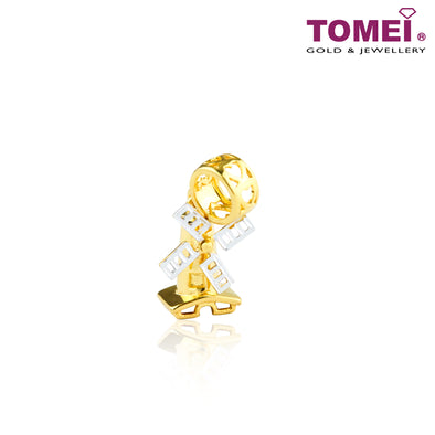 [Online Exclusive] Windmill Chomel Charm | Tomei Yellow Gold 916 (22K) with Complimentary Navy Blue Bracelet (TM-YG0685P-2C)