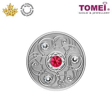"Tomei x Royal Canadian Mint Silver 9999 ""2020 July Birthstone with Swarovski® Crystals"" Numismatic Coin (164928)"