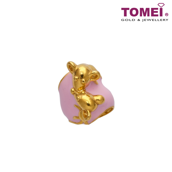 [Online Exclusive] Mousey Love Charm | Tomei Yellow Gold 916 (22K) with Complimentary Peach Pink Bracelet (TM-YG0709P-EC)