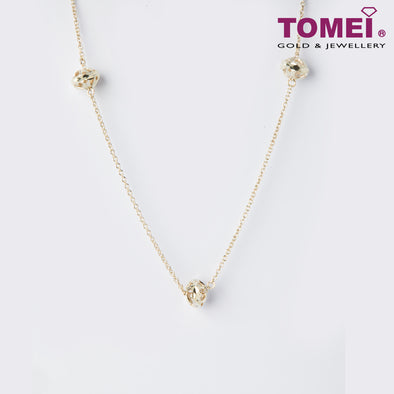 [Online Exclusive]Frosty Faith Dancing Diamond Expandable Necklace | 44 - 47.5 cm | Tomei Sterling Silver 925 (SN0001)