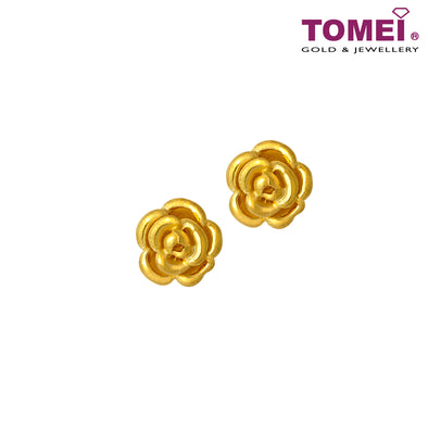 倾城玫瑰 Earrings | Tomei Yellow Gold 999 (24K)