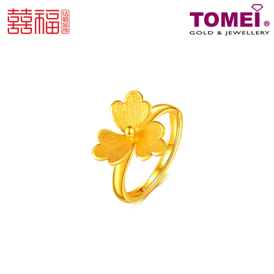 Tomei x Xifu Yellow Gold 999 (24K) Flowers: Rhyming Love Ring 花韵·Ⅴ 戒指 (XF-HY-5-O)