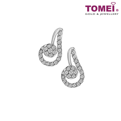 Diamond Earrings | Tomei 375 (9K) White Gold (E1453)