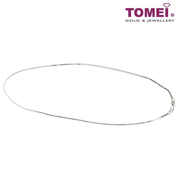 [Online Exclusive] Frosty Faith Unisex Box Chain | 40 cm | Tomei Sterling Silver 925 (SN5101514-40)