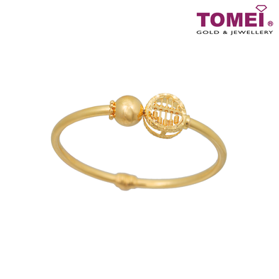 Tomei Yellow Gold 916 (22K) Abacus Bangle (9L0112026)