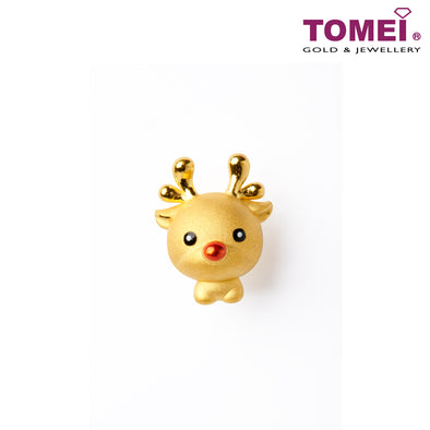 [Online Exclusive] Innocent Reindeer Charm | Christmas | Tomei Yellow Gold 999 (24K) with Complimentary Red Bracelet (LLT-DEER)