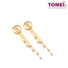 Beaded Circular Dual-Tone Tassel Earrings | Tomei Yellow Gold 916 (22K) (X4FOR7E205058-TC-2C)