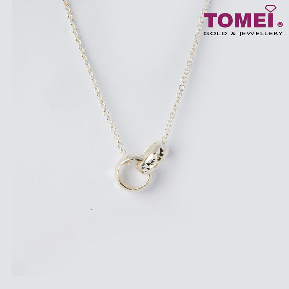[Online Exclusive]Frosty Faith Circles of You & Me Expandable Necklace | 44 - 47.5 cm | Tomei Sterling Silver 925 (SN0002)