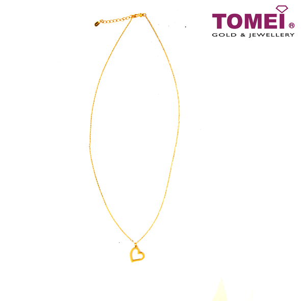 Heart Minimalist Necklace | Tomei Yellow Gold 999 (24K) (BTN-5D-021A)