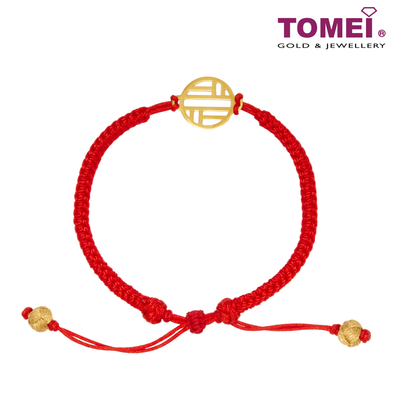 Happy Koi Red Expandable Bracelet | Tomei Yellow Gold 999 (24K) (XF-XFJL-T-R)