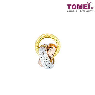 Love Knot Tri-Color Pendant | Tomei Yellow Gold 916 (22K) (PP2322-3C)