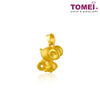 2020 Year of The Rat Money Coin Rolling In Pendant | Tomei Yellow Gold 999 (24K) (BTP-RAT-JQ)