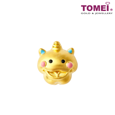 [Online Exclusive][Last Pieces] Gold Swallowing Toad Charm | Tomei Yellow Gold 999 (24K) with Complimentary Bracelet (BTP-5D-EC-LLT-TJS)