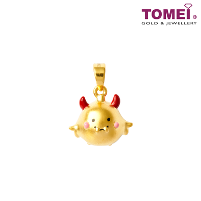 [Online Exclusive] Money Manifestor Baby Vampire Pendant | Tomei Yellow Gold 999 (24K) with Complimentary Rope Necklace (BTP-5D-EC-AYJL)