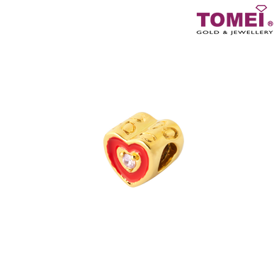 [Online Exclusive][Last Pieces]Stolen Heart Charm | Tomei Yellow Gold 916 (22K) with Complimentary Black Bracelet (TM-ABS020-HG-EC)