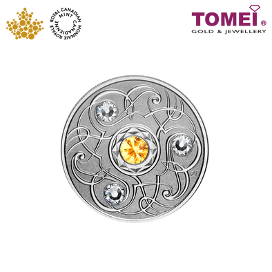 "Tomei x Royal Canadian Mint Silver 9999 ""2020 November Birthstone with Swarovski® Crystals"" Numismatic Coin (165513)"