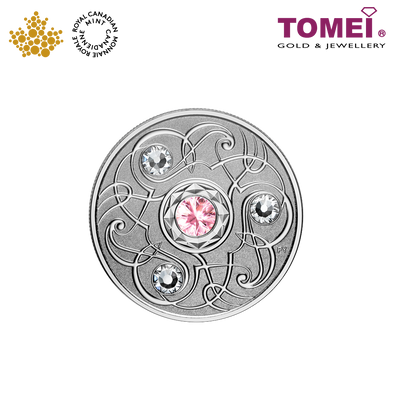 "Tomei x Royal Canadian Mint Silver 9999 ""2020 October Birthstone with Swarovski® Crystals"" Numismatic Coin (165305)"