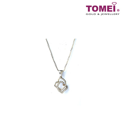 [Online Exclusive][Only Piece] Timeless Sparkle Diamond Necklace | Tomei White Gold 375 (9K) & White Gold 585 (14K) (P5095)