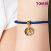 [Online Exclusive] Queen of My Heart Charm | Tomei Yellow Gold 916 (22K) with Complimentary Navy Blue Bracelet (TM-YG0715P-2C)