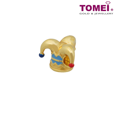 [Online Exclusive] Jester Clown Hat Charm | Tomei Yellow Gold 916 (22K) with Complimentary Navy Blue Bracelet (TM-YG0477P-EC)