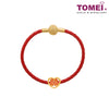 [Online Exclusive] Xi Double Happiness Chomel Charm | Tomei Yellow Gold 916 (22K) with Complimentary Red Bracelet (TM-YG0537P-EC)
