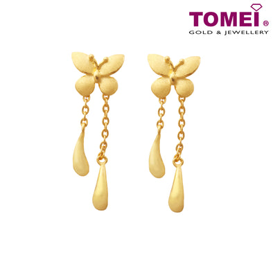 "Tomei x Xifu Yellow Gold 999 (24K) ""Butterfly"" Earrings (XF-XYHJ-Q)"