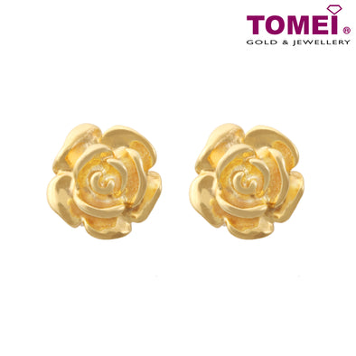Rose Earrings | Italy Collection | Tomei Yellow Gold 916 (22K) (IQ-XE12688-1C)