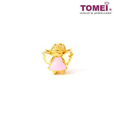 [Online Exclusive]Angel of My Heart Charm | Tomei Yellow Gold 916 (22K) (TM-YG0563P-EC)