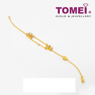 Bracelet of Splendorous Reign of Royalty | Tomei Yellow Gold 916 (22K) (9M-YG1162B-EC)