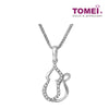 [Online Exclusive][Only Piece] Timeless Sparkle Diamond Necklace | Tomei White Gold 375 (9K)  (P2415V)