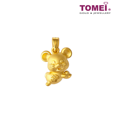 2020 Year of The Rat Yuan Bao Sycee Belong To You Pendant | Tomei Yellow Gold 916 (22K) (9P-TMP002-1C)