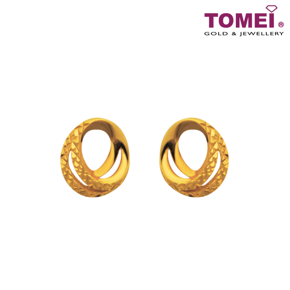 Earrings of Glamorously Ablaze | Ooh La La Collection | Tomei Yellow Gold 916 (22K) (9Q-YG1071E-1C)