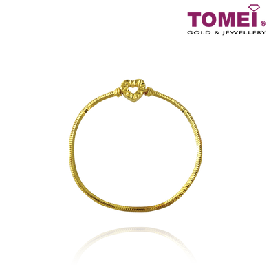 Tomei Yellow Gold 916 (22K) Colors of Memories Bangle (TM-YG1178B-18CM-1C)