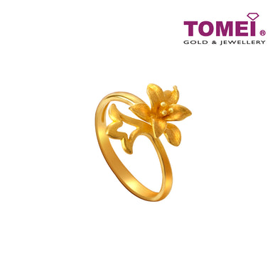 Full Bloom Ring | Tomei x Xifu Yellow Gold 999 (24K) (XF-BNHH-XS-O)