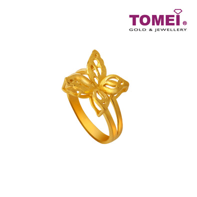 Dancing Butterfly Ring | Tomei x Xifu Yellow Gold 999 (24K) (XF-HY-3-O)