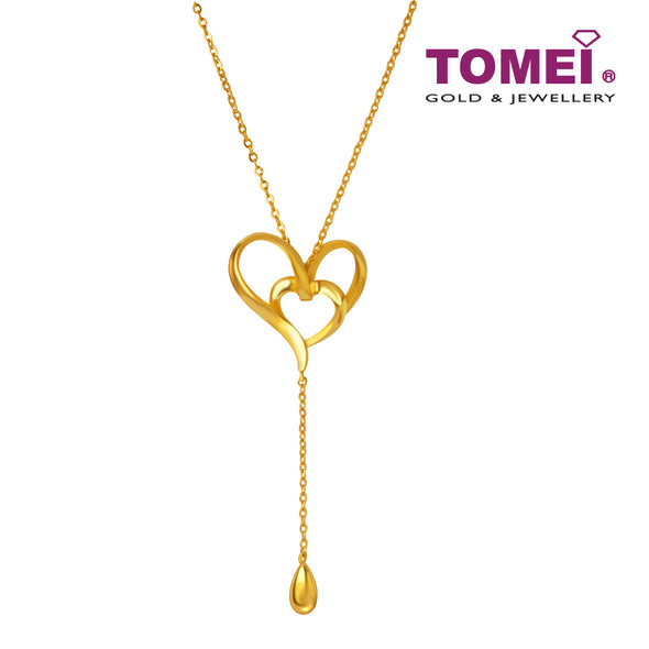 Love Within Heart Lariat Necklace | Tomei x Xifu Yellow Gold 999 (24K) (XF-XYRH-O)